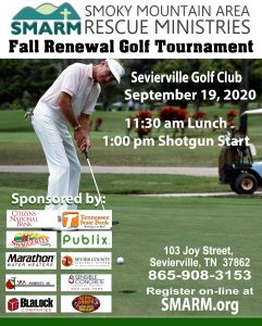 Get Involved, Golf Tournaments in Sevierville, Sevierville Golf Club, SMARM, SMARM Golf Tournament, Smoky Mountain Area Rescue Ministries